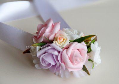 Květinový náramek _růže