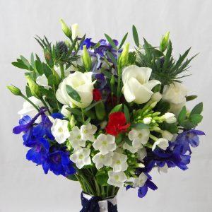 Letní svatební kytice luční z Rozkvetlé dílny