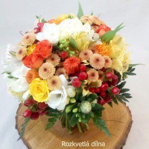 Svatební kytice podzimní oranžová