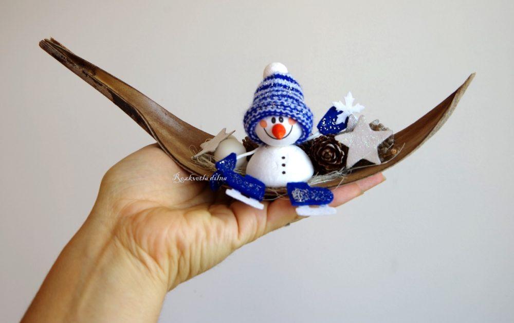 vánoční_dekorace_sněhulák
