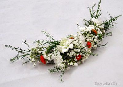 květinový hřebínek 2