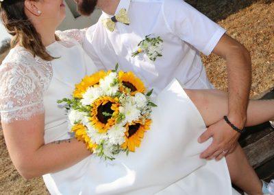 svatební kytice se slunečnicí 3