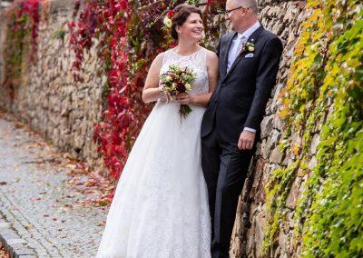 podzimní svatba v bordó