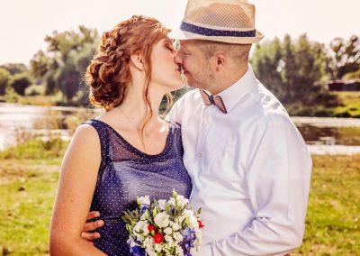svatební kytice pestrobarevná zahradní