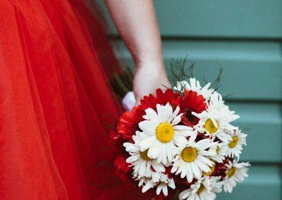 svatební kytice s kopretinami 3