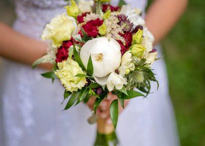 svatební kytice s pivoňkami 2