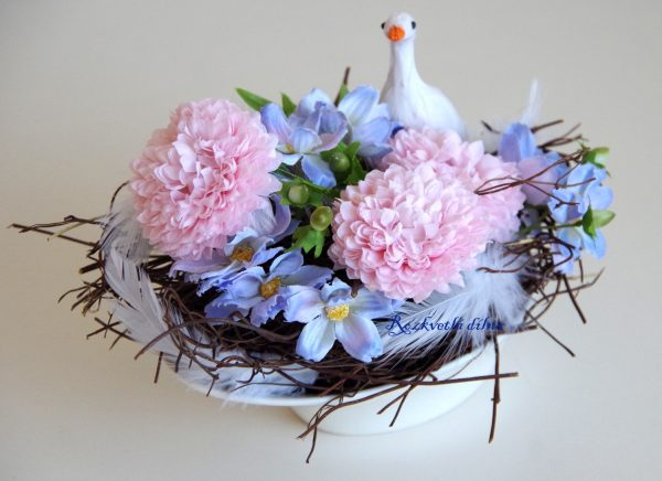 Husička na louce - malá dekorace 2