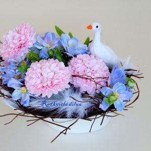 Husička na louce - malá dekorace
