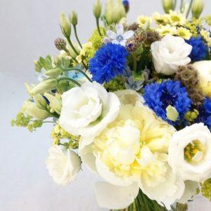 Svatební kytice s chrpou