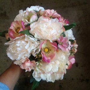 Ve starorůžových tónech - umělá kytice