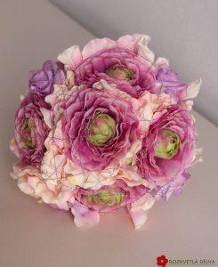 Kytice umělá růžová