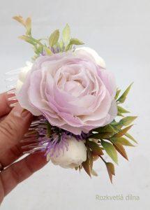 Květinový hřebínek - do fialova z Rozkvetlé dílny