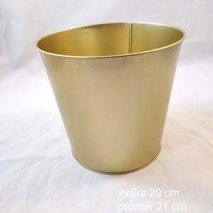 Zlatá květináč velký