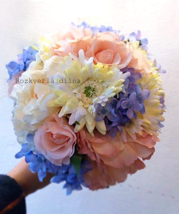 Pastelová kytice pro nevěstu