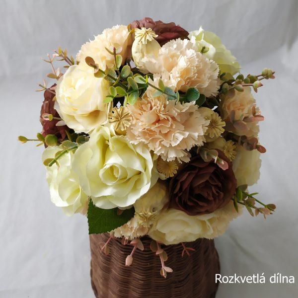 Elegantní jemná kytice pro nevěstu